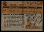 1960 Topps #178  Woodie Held  Back Thumbnail