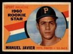 1960 Topps #133   -  Manuel Javier Rookie Star Front Thumbnail