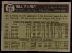 1961 Topps #225  Bill Rigney  Back Thumbnail