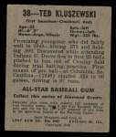 1949 Leaf #38  Ted Kluszewski  Back Thumbnail