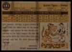 1960 Topps #141   -  Jim Proctor Rookie Star Back Thumbnail