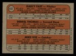 1972 Topps #457   -  Darcy Fast / Mike Ivie / Derrel Thomas Padres Rookies   Back Thumbnail