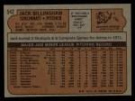 1972 Topps #542  Jack Billingham  Back Thumbnail