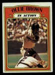 1972 Topps #552   -  Ollie Brown In Action Front Thumbnail