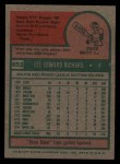 1975 Topps #653  Lee Richard  Back Thumbnail