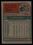 1975 Topps #180  Joe Morgan  Back Thumbnail