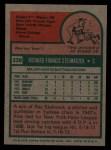 1975 Topps #338  Rich Stelmaszek  Back Thumbnail