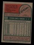 1975 Topps Mini #362  Steve Hargan  Back Thumbnail