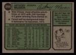 1974 Topps #286  Tony Muser  Back Thumbnail
