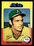 1975 Topps #613  Bill Parsons  Front Thumbnail