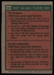 1975 Topps #191   -  Al Rosen / Roy Campanella 1953 MVPs Back Thumbnail