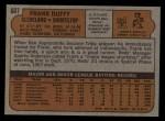 1972 Topps #607  Frank Duffy  Back Thumbnail