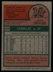 1975 Topps #506  Leron Lee  Back Thumbnail