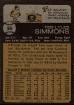 1973 Topps #85  Ted Simmons  Back Thumbnail