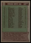 1976 Topps #656   -  Chuck Tanner White Sox Team Checklist Back Thumbnail