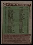 1976 Topps #118   -  Darrell Johnson Red Sox Team Checklist Back Thumbnail