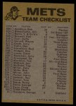 1974 Topps Red Checklist   Mets Back Thumbnail