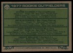 1977 Topps #473   -  Andre Dawson / Gene Richards / John Scott / Denny Walling Rookie Outfielders   Back Thumbnail