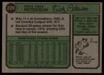 1974 Topps #229  Fritz Peterson  Back Thumbnail