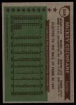 1976 Topps #348   -  Mickey Cochrane All-Time All-Stars Back Thumbnail