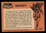 1966 Topps Batman Black Bat #49 BLK  Decoy Back Thumbnail