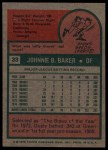 1975 Topps #33  Dusty Baker  Back Thumbnail