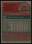 1975 Topps #507  Tom Carroll  Back Thumbnail