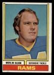 1974 Topps #205  Merlin Olsen  Front Thumbnail