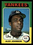 1975 Topps #534  Alex Johnson  Front Thumbnail