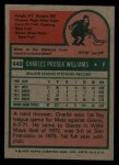 1975 Topps #449  Charlie Williams  Back Thumbnail