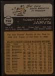 1973 Topps #192  Pat Jarvis  Back Thumbnail