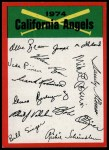 1974 Topps Red Checklist   Angels Red Team Checklist Front Thumbnail