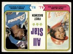 1974 Topps #332   -  Rich Allen / Hank Aaron All-Star First Baseman   Front Thumbnail