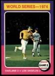 1975 Topps #465   -  Joe Rudi / Ron Cey 1974 World Series - Game #5 Front Thumbnail