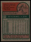 1975 Topps #375  Roy White  Back Thumbnail