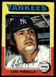 1975 Topps #217  Lou Piniella  Front Thumbnail