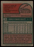 1975 Topps #65  Don Gullett  Back Thumbnail