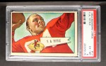 1952 Bowman Large #17  Y.A. Tittle  Front Thumbnail