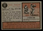 1962 Topps #565  Jose Pagan  Back Thumbnail