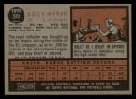 1962 Topps #539  Billy Moran  Back Thumbnail