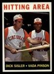 1964 Topps #162   -  Vada Pinson / Dick Sisler Hitting Area Front Thumbnail