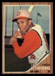 1962 Topps #381  Leo 'Chico' Cardenas  Front Thumbnail
