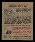 1948 Bowman #85  William Gray Jr.  Back Thumbnail