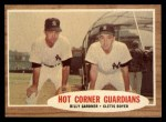 1962 Topps #163 GRN  -  Clete Boyer / Billy Gardner Hot Corner Guardians Front Thumbnail