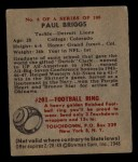 1948 Bowman #6  Paul Briggs  Back Thumbnail