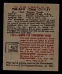 1948 Bowman #21  William Chipley  Back Thumbnail