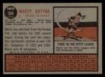 1962 Topps #566  Marty Kutyna  Back Thumbnail