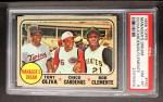 1968 Topps #480   -  Tony Oliva / Leo 'Chico' Cardenas / Roberto Clemente Manager's Dream Front Thumbnail