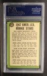 1967 Topps #569   -  Hank Allen / Rod Carew AL Rookies Back Thumbnail