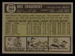 1961 Topps #364  Moe Drabowsky  Back Thumbnail